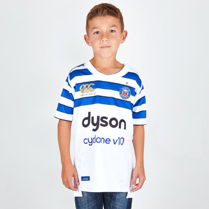 Bath 2018/19 Kids Alternate S/S Pro Rugby Shirt