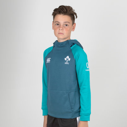 Ireland IRFU 2018/19 Youth Hybrid Hooded Rugby Sweat