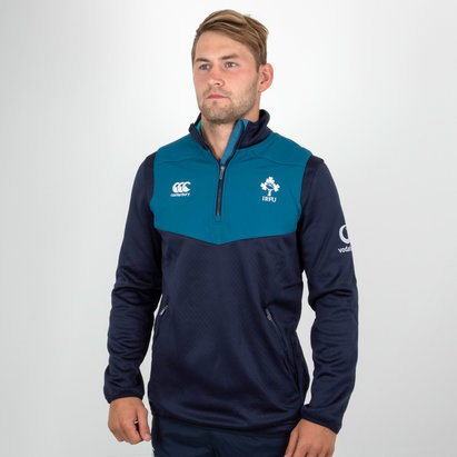 Ireland IRFU 2018/19 Players 1/4 Zip Rugby Training Top