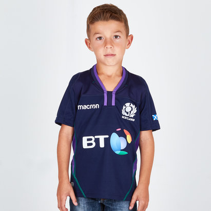 Scotland 2018/19 Home Kids S/S Replica Rugby Shirt