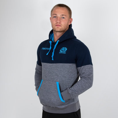Scotland 2018/19 Players Travel Hooded Rugby Sweat