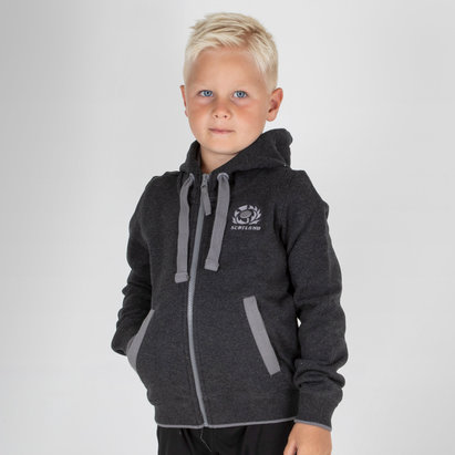 Scotland 2018/19 Kids Travel Full Zip Hooded Rugby Sweat