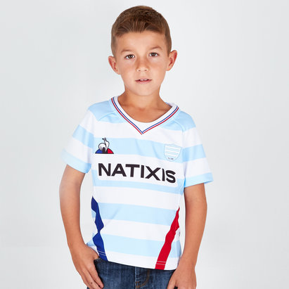 Racing 92 2018/19 Kids Home S/S Replica Rugby Shirt