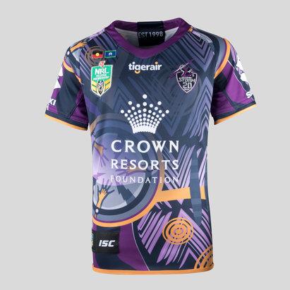 Melbourne Storm NRL 2018 Kids Indigenous S/S Rugby Shirt