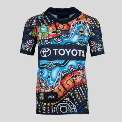 North Queensland Cowboys NRL 2018 Kids Indigenous S/S Rugby Shirt