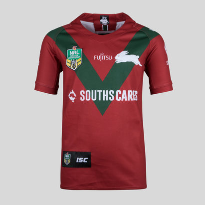 South Sydney Rabbitohs NRL 2018 Kids Alternate S/S Rugby Shirt