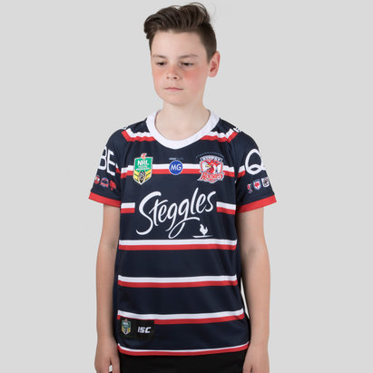 Sydney Roosters NRL 2018 Kids Heritage S/S Rugby Shirt