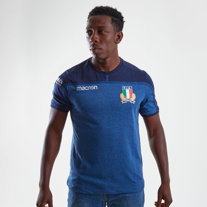 Italy 2018/19 Players Cotton Travel Rugby T-Shirt