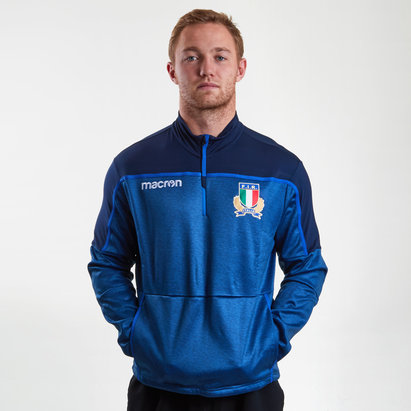Italy 2018/19 Players 1/4 Zip Travel Rugby Top