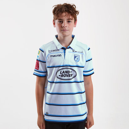 Cardiff Blues 2018/19 Kids Alternate S/S Replica Rugby Shirt