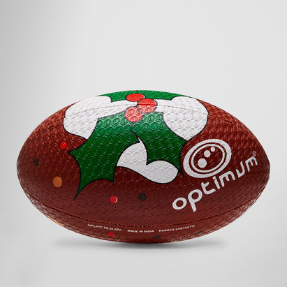 Christmas Pudding Rugby Training Ball