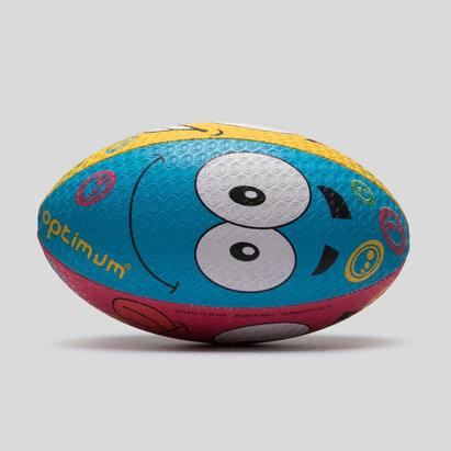 Emoji Cartoon Training Rugby Ball