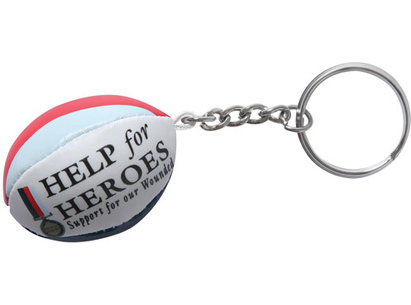 Help for Heroes Rugby Ball Key Ring