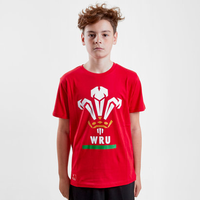 Wales WRU 2018 Kids Off Field Logo Rugby T-Shirt