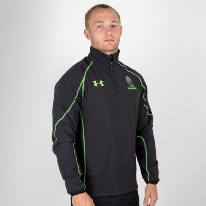 Worcester Warriors 1/4 Zip Rugby Travel Jacket