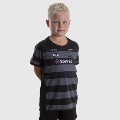 Newcastle Falcons 2018/19 Youth Home S/S Replica Rugby Shirt