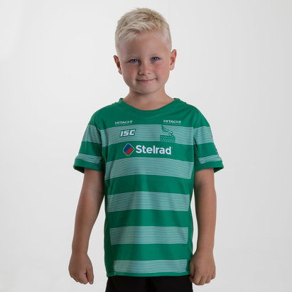Newcastle Falcons 2018/19 Kids Alternate S/S Replica Rugby Shirt