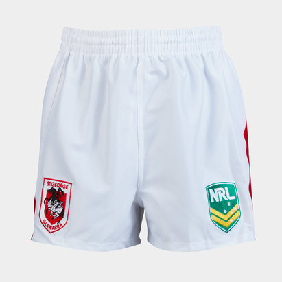 St George Illawarra Dragons NRL Kids Supporters Rugby Shorts