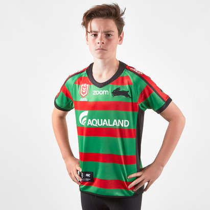 South Sydney Rabbitohs NRL 2019 Youth Home S/S Rugby Shirt