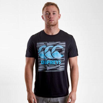 Ospreys 2018/19 Plain Rugby T-Shirt