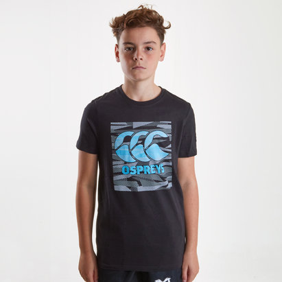 Ospreys 2018/19 Youth Plain Rugby T-Shirt