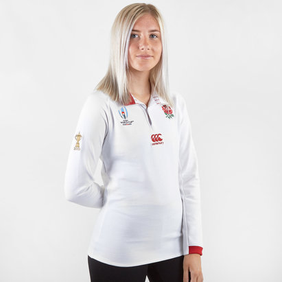 Canterbury England RWC 2019 Home Classic L/S Womens Rugby Shirt