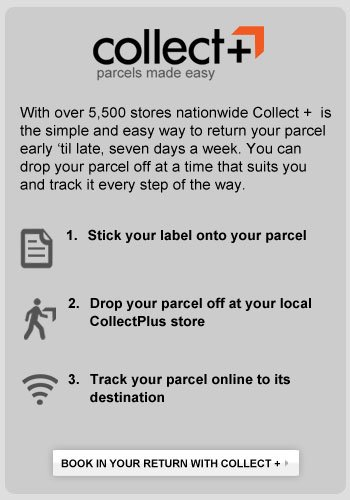 Book your return with Collect+