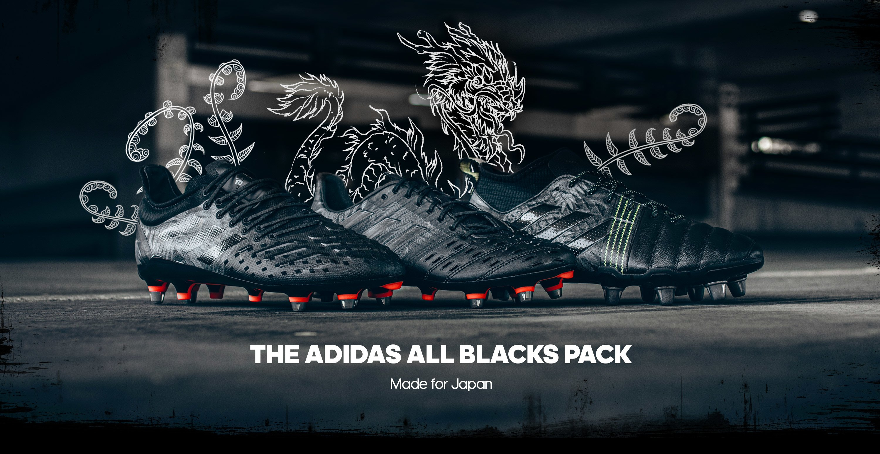 adidas all blacks Rugby Boots 2019