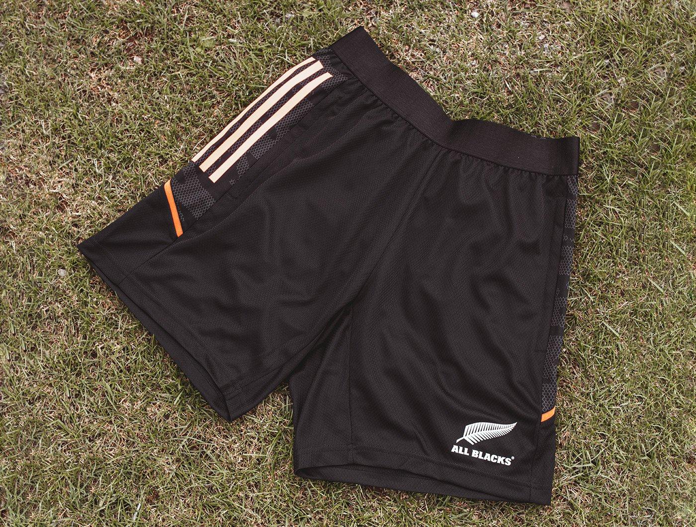 Black Optimum Sports Fiji Rugby Shorts For High Level Performance Training