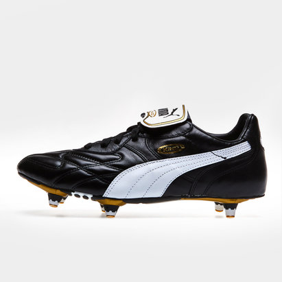 King Pro SG Football Boots Black/White/Gold