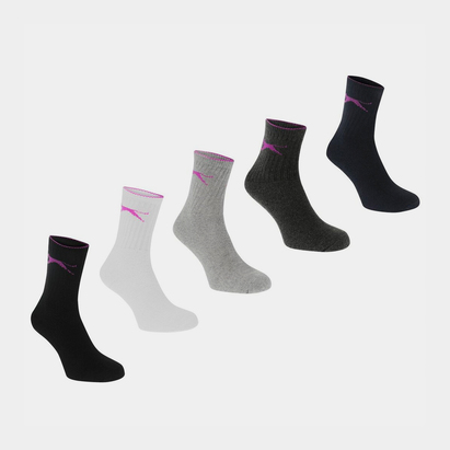 Slazenger 5 Pack Crew Socks Ladies