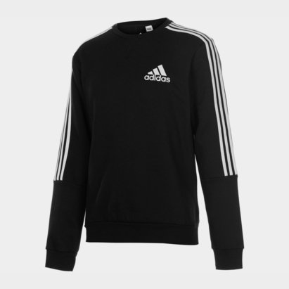 adidas 3 Stripes Crew Sweatshirt Mens