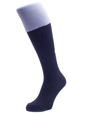 Plain Top Rugby Socks Navy / White