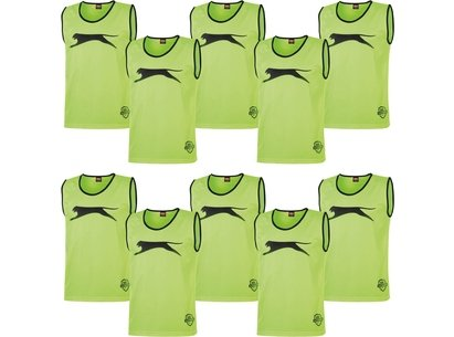 Slazenger 10 Pack Mesh Hi Viz Training Bibs Junior