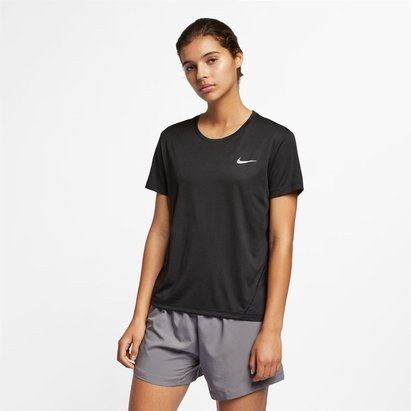 Nike V Neck Miler Running Top Ladies