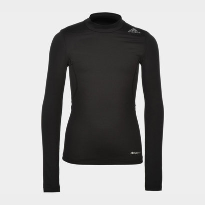 adidas TechFit Mock Neck Baselayer L/S Top Juniors