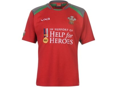 Help for Heroes Wales Rugby Shirt Mens