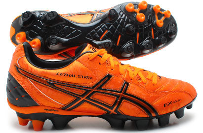 Lethal Shot Stats SK FG Rugby Boots Super Orange/ Metal Orange/Black