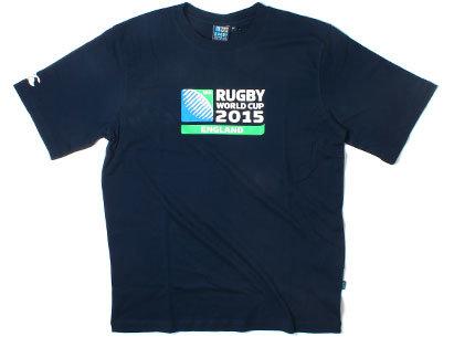 RWC 2015 Logo Rugby T-Shirt Navy