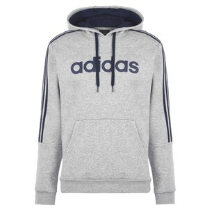 adidas 3 Stripes Logo Over The Head Hoody Mens
