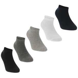 Slazenger 5 Pack Trainers Socks Junior