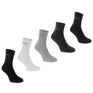Slazenger 5 Pack Crew Socks Junior