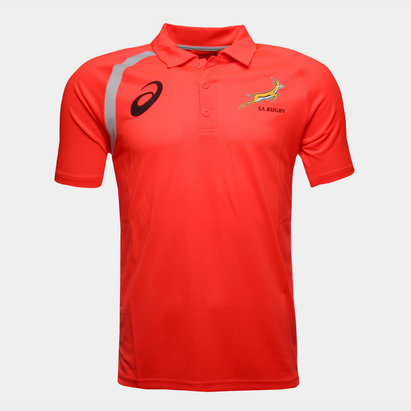 Asics South Africa Springboks 2017/18 Players Performance Polo Shirt