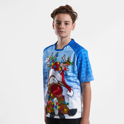 World Beach Rugby The Northern Sleighers Kids Christmas 2018 Rugby Shirt