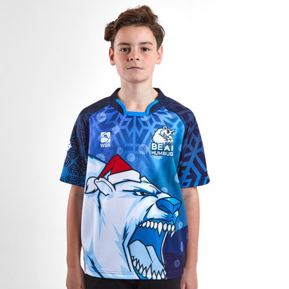World Beach Rugby Bear Humbugs Kids Christmas 2018 Rugby Shirt