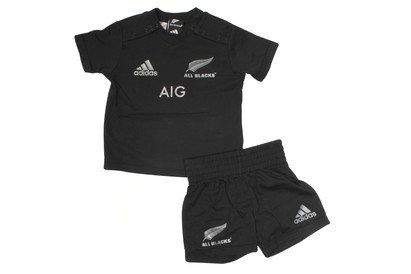 adidas New Zealand All Blacks 2016 Home Infant Replica Rugby Kit