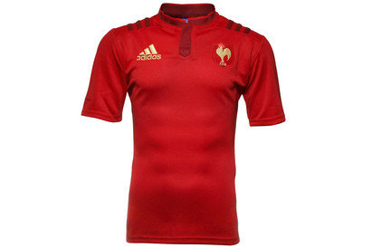 adidas France 2015/16 Alternate S/S Replica Rugby Shirt