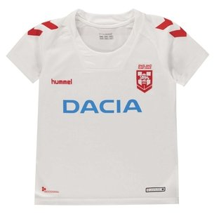Hummel England Rugby League 2018/19 S/S Kids Replica Rugby Shirt