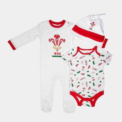 Wales WRU 2019/20 Infant 4 Piece Rugby Gift Set