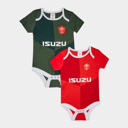 Wales WRU 2019/20 Infant Bodysuits 2 Pack